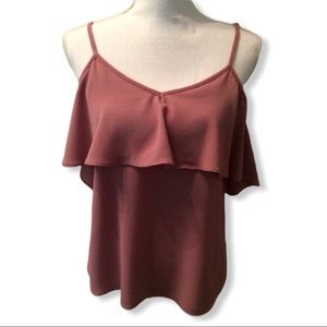 Moa Moa Cold Shoulder Top Pink Size S